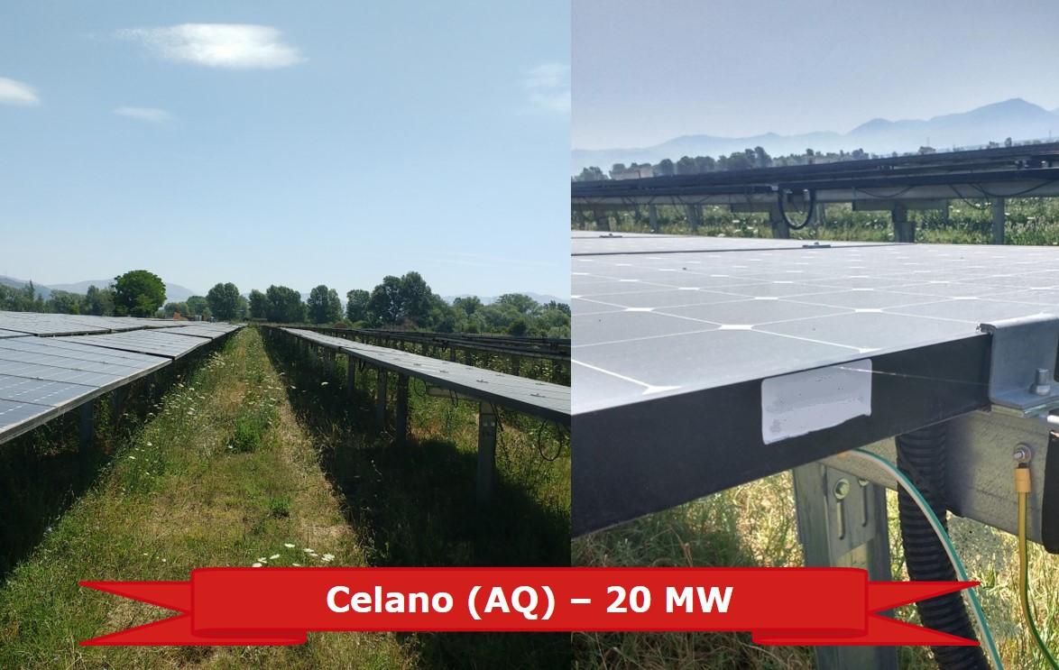 Impianto FV a Celano (AQ) da 20 MW