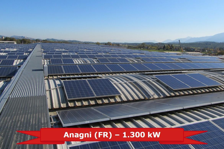 Impianto FV ad Anangni (FR) da 1.300 kW