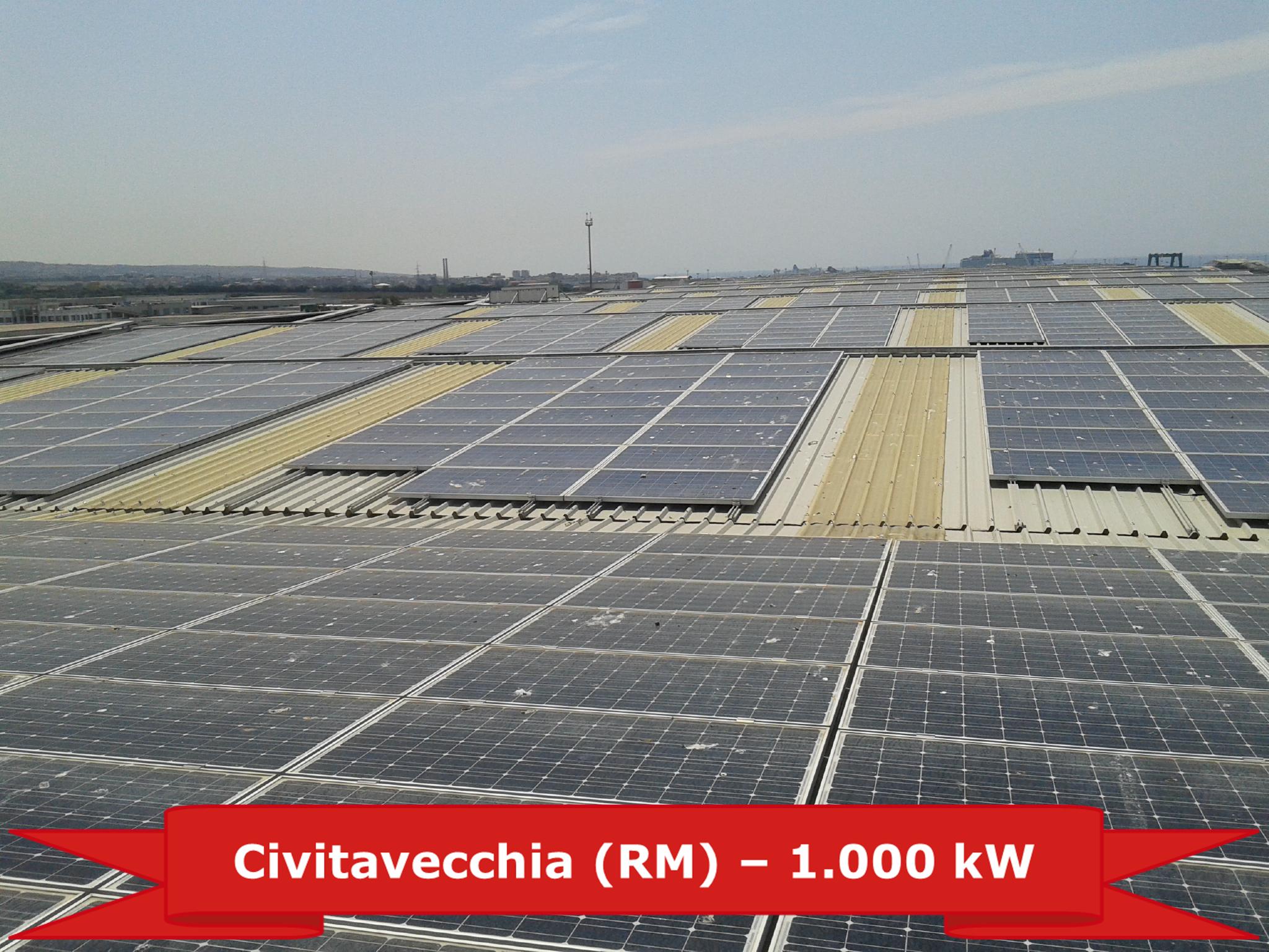 Impianto a Civitavecchia da 1 MW