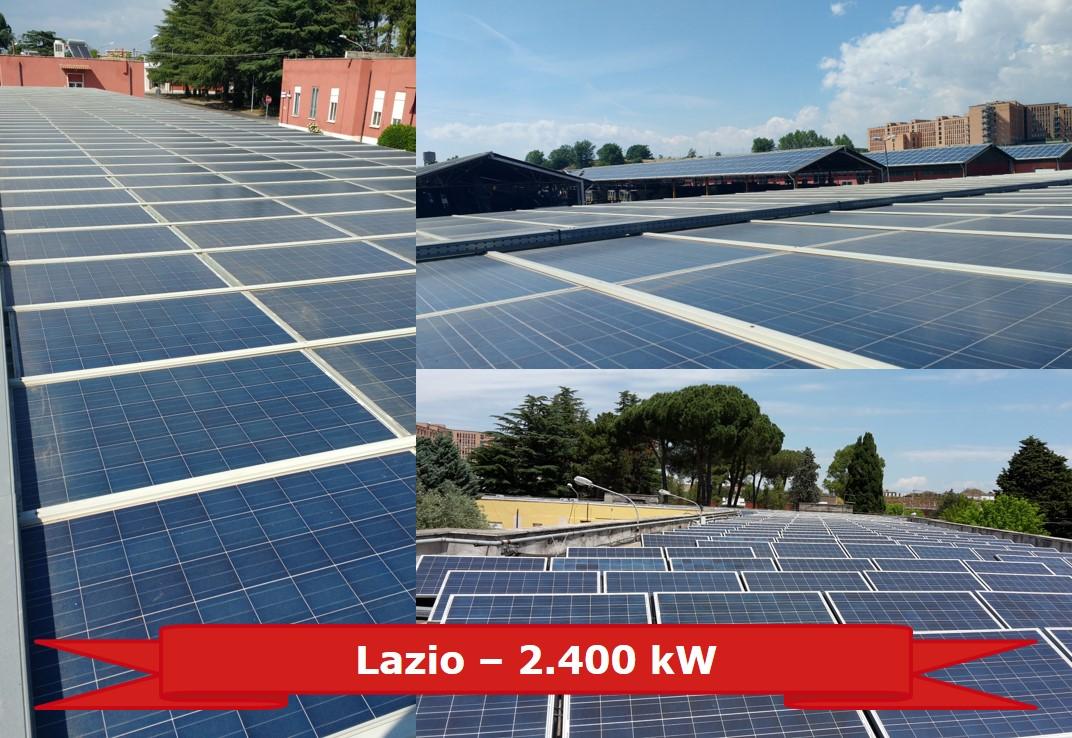 Impianto nel Lazio da 2.400 kW
