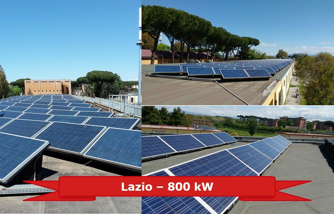 Impianto nel Lazio da 800 kW