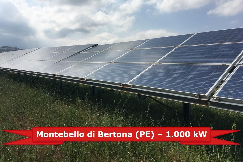 Impianto nella provincia di Pescara da 1.000 kW