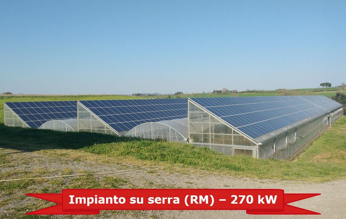 Impianto su serre da 270 kW