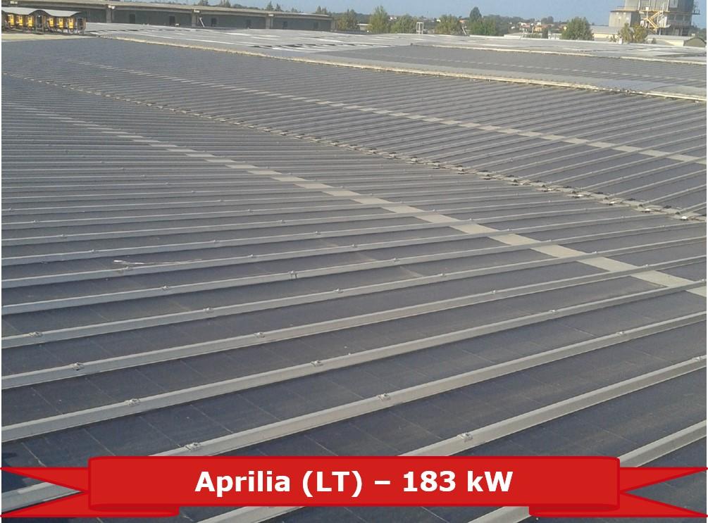 Impianto ad Aprilia (LT) da 183 kW